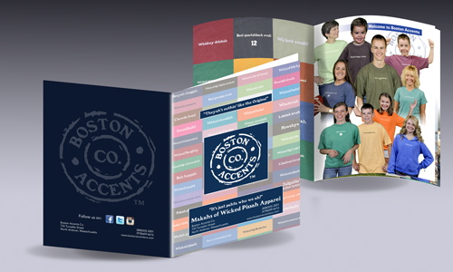Boston Accents brand book concept and design in New Hampshire